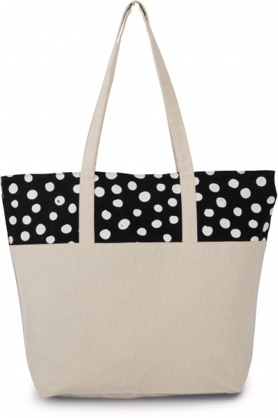 cotton:Shoppertasche mit Punktmuster