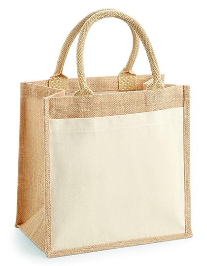 jute:cotton pocket midi bag