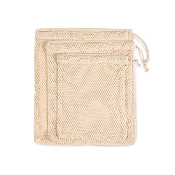 veggie:Netztasche mit Kordelzug L