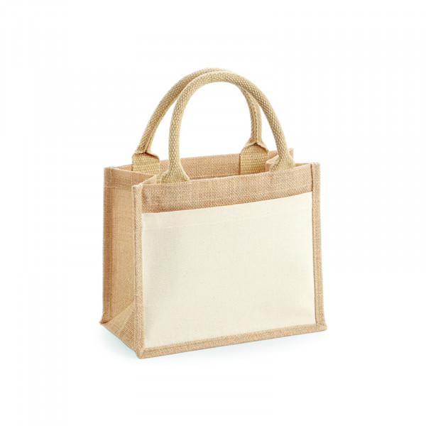 jute:cotton pocket gift bag