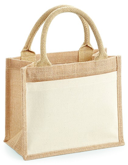 jute:cotton pocket gift bag